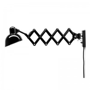 Lámpara Kaiser de pared color negro de Fritz Hansen