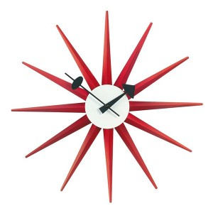 Reloj Sunburst Clock Rojo - Vitra