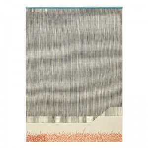 Alfombra Kilim Backstitch Calm color ladrillo de Gan Rugs en Moises Showroom.