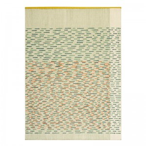 Alfombra Kilim Backstitch Busy Verde de Gan Rugs en Moises Showroom