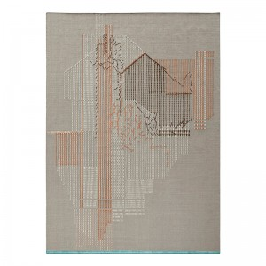 Alfombra Backstitch Composition Brick de Gan Rugs en Moises Showroom
