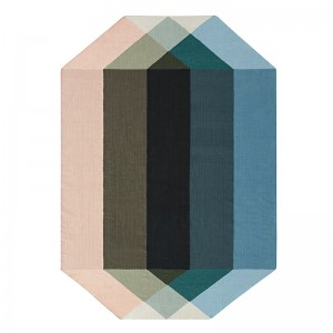 Kilim Diamond Nude petrol de Gan Rugs en Moises Showroom
