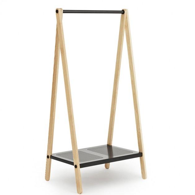 Toj Clothes Rack pequeña color negro de Normann Copenhagen