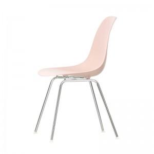 Silla Vitra Eames Plastic Side DSX rosa palo pata cromada