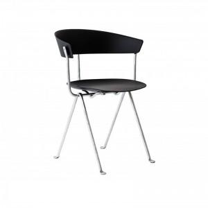 comprar silla Officina polipropileno negra galvanizada Magis