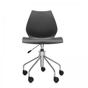 comprar silla Maui con ruedas Kartell antracita