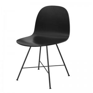 Silla 2D Dining Chair de Gubi en abedul lacado negro en Moises Showroom