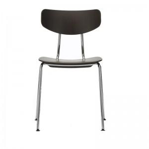 silla Moca roble negro pata cromada Vitra